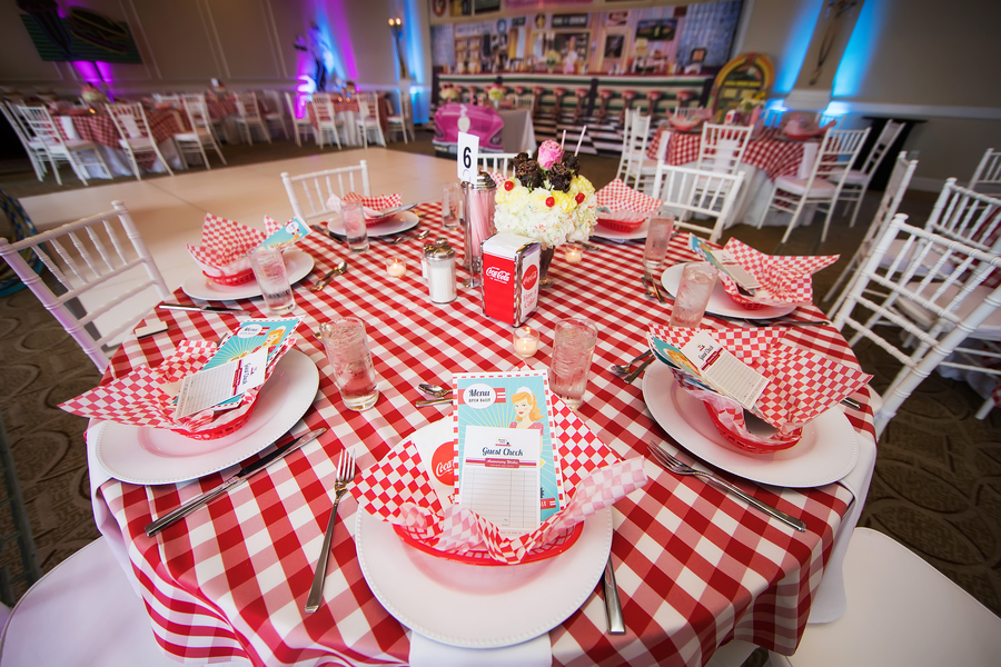 Red Gingham table setting